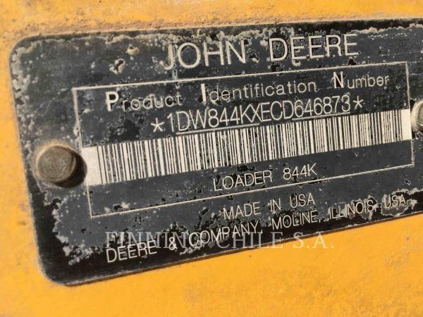 John Deere 844K  año 2014