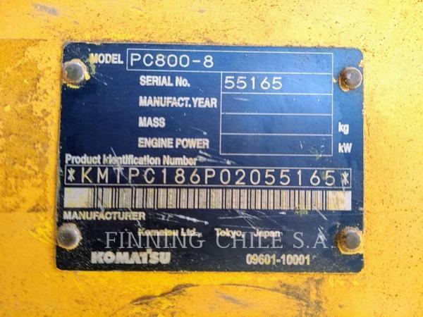 Komatsu PC800-8 PC 00- año 2010